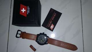 SWISS ARMY Chrono - SA7130-RS (Strap Kulit)