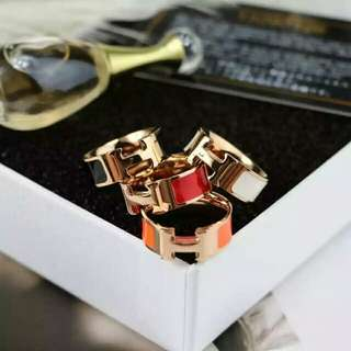 Hermes 18k rose gold ring