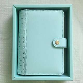 [Kikki.K] Mint Perforated Leather Planner Medium