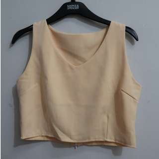 A062 BABY YELLOW CROP TOP SIZE FIT TO EU XS