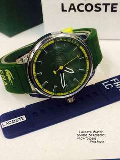 Lacoste watch free pouch