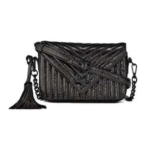 V-Quilt Metallic Crossbody Sparkle victorias secret