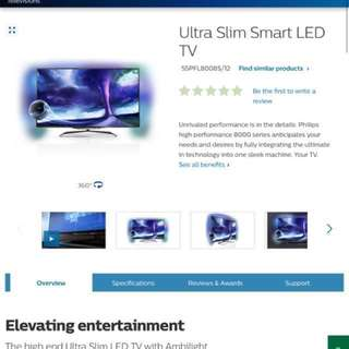 Philips 3D led smart tv