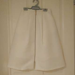 Forever new knee length white skirt