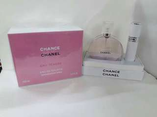 Tester perfume chanel set with atomizer