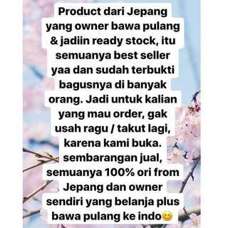READY STOCK JAPAN PRODUCTS