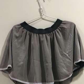Grey PomPom Skirt