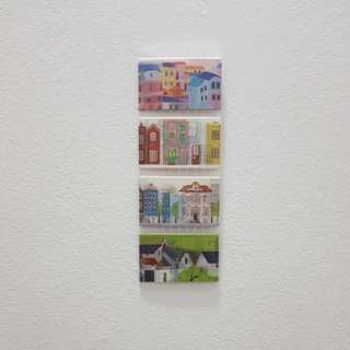 < instock > houses and buildings illustration scenery washi tape