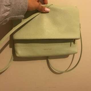Pastel Green Oroton side bag