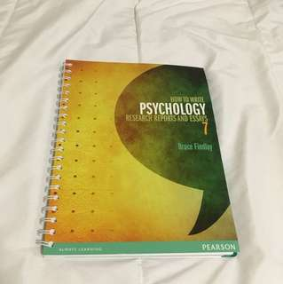 How to write Psychology research reports and essays.