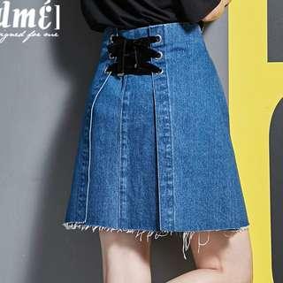 BN Tie-lace Denim Skirt