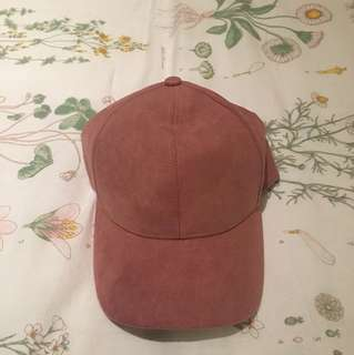 Hat H&M Suede Dusty Pink -NEW