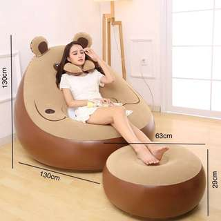 BIG BEAR PLASTIC AIR SOFA