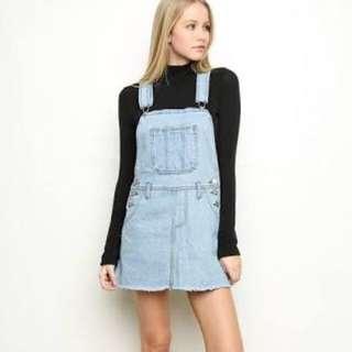 Brandy Melville Denim Skirt Overalls