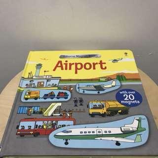"Buku Usborne Magnet ""airport"""