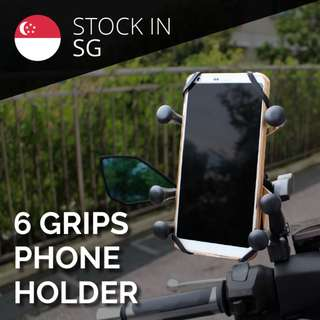 6 finger X grip phone holder for motorcylce bicycle ebike escooter