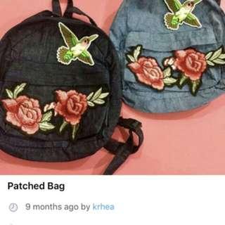 Patched Denim Bag