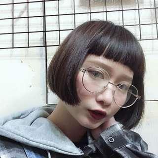 橢圓框造型眼鏡
