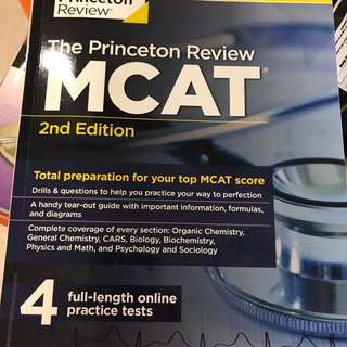 MCAT The Princeton Review: 4 Full Lenghtractice tests (new MCAT test format)