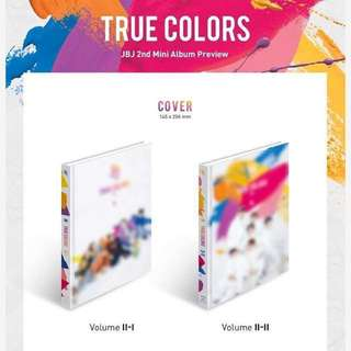 JBJ True Colours 2nd Mini Album (All gifts + Poster+ Can Choose Version)