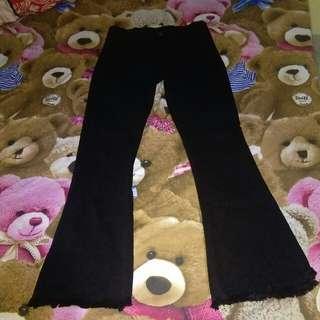 Celana jeans highwaist cutbray black