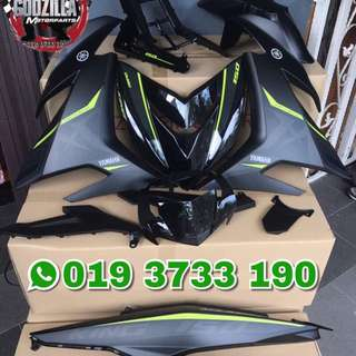 COVERSET Y15ZR MX KING HITAM 2017 / 2018