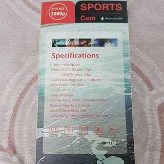 Sport Cam Full HD 1080p 2.0 inch screen