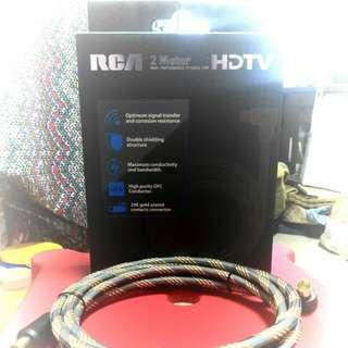 (全新/New) RCA 2 Meter High Performance TV Cable for HDTV