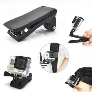 Gopro Bag Holder with Fast Installation Groove 360 Degree Revolve