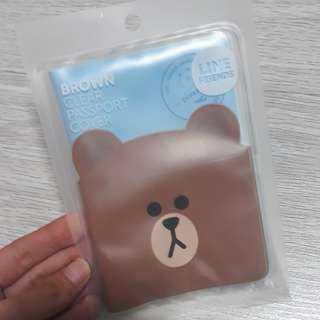 Line Friends Brown Passport Cover