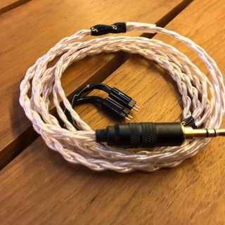 全新4絞德國單晶銅mmcx/cm Litz耳機升級線
