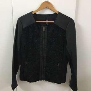 Black Leather & Fur Jacket