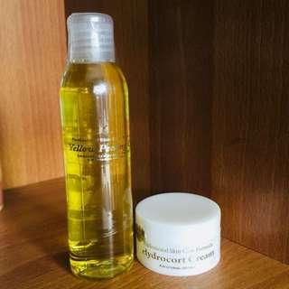 Yellow Peeling Oil 120ml with Hydrocort Cream