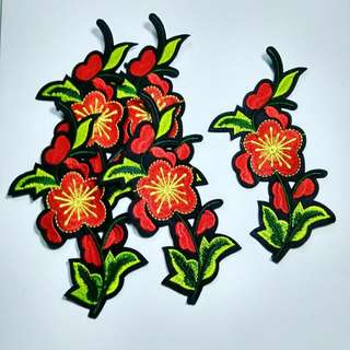 Iron on Patch bordir flowers