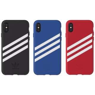 Adidas Original 正品 3間 手機殼 iPhone X 用 背殼 貼皮 技術 皮質感