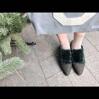CUNZ正韓深墨綠毛毛鞋🇰🇷
