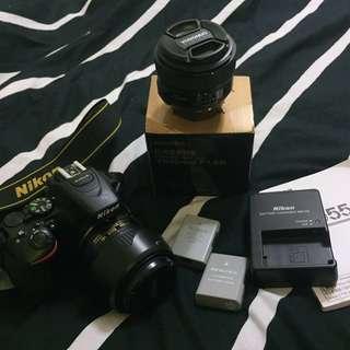 🚚 Nikon d5500 裝備齊全附贈定焦鏡 遮光罩