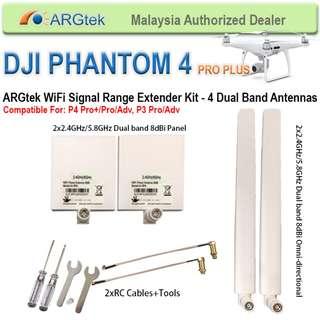 ARGtek DJI Phantom 4 Pro Plus Wifi Signal Range Extender - 4 Antenna (Dual Band)