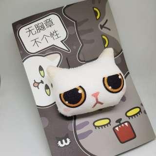 Cute plushie cat pin