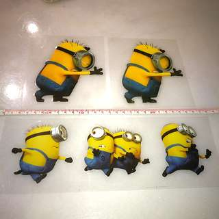 Waterproof minion car sticker