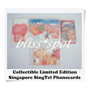 2018 SALE🆕Brand New Singapore SingTel Limited Edition Forever Friends Bear Phone Card