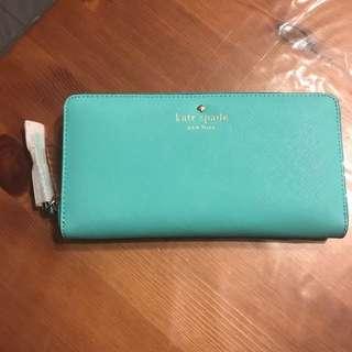 Kate Spade long wallet in mint blue