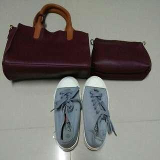 Bag 2@1 + Shoes