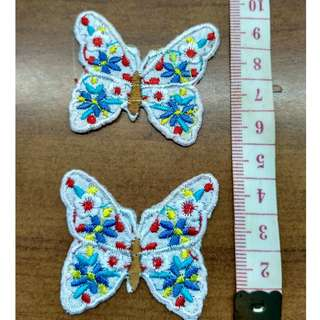 Butterfly Iron on applique patch embroidered fabric badge decoration