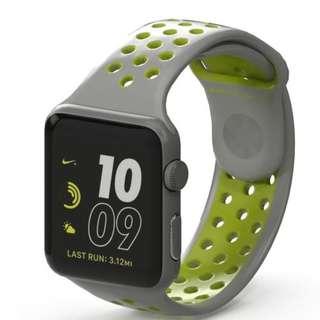 Applewatch Apple watch series 2 nike+ 42mm flat silver/volt BNIB applecare