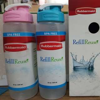 2 pcs Rubbermaid Refill Reuse 600ml