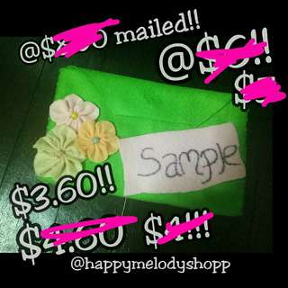 Clearance sale @$3.60 mailed !! Handmade felt wallet!!