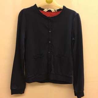 H&M女童開襟衫(尺寸6-8Y)