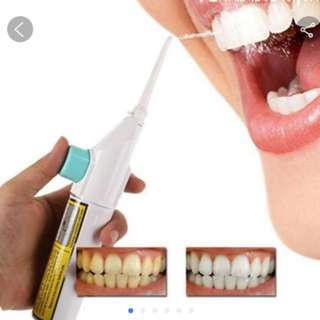 1 pcs Portable Power Floss Dental Water Jet Toothpick No Batteries Dental Cleaning Whitening Cleaner Kit