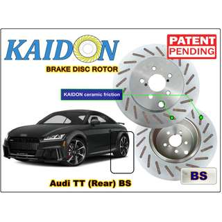"AUDI TT disc rotor KAIDON (Rear) type ""RS"" / ""BS"" spec"